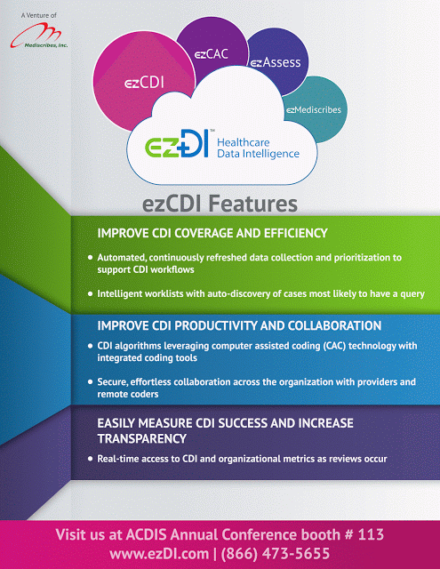 ezDI at ACDIS 2016 Annual Conference